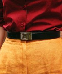 Salvatore Ferragamo/logo vintage leather belt.
