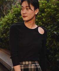 Celine/ shoulder  open design knit