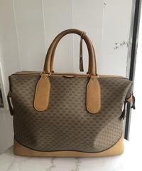 GUCCI/ vintage monogram design big hand bag. 415004A