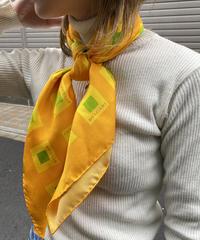 BVLGARI/ vintage square logo motif silk100% scarf.  / 501011T(U)