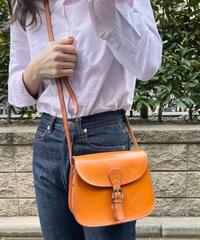 Courreges / vintage round form shoulder bag.