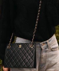 CHANEL/vintage matrasse shoulder bag.