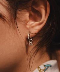 courrages / vintage 2way hoop earrings