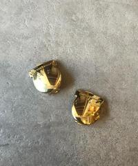Salvatore Ferragamo/vintage gantini motif  gold  earring.