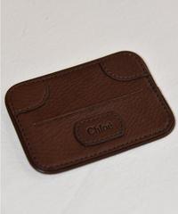 Chloe/vintage logo design card case.