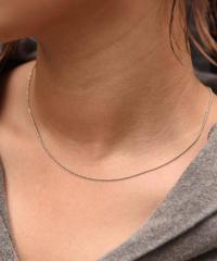 Courreges / vintage silver simple necklace. (U)