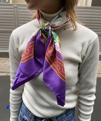 CELINE / vintage  silk scarf. 423011 A(U)