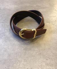 Burberry/vintage gold leather belt