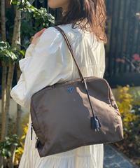 PRADA/vintage large nylon bag.