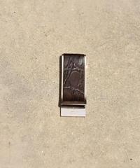 GUCCI / vintage leather×silver money clip.