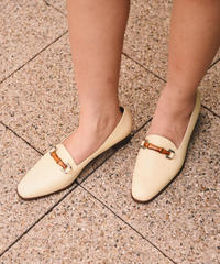GUCCI / vintage bamboo design loafers.