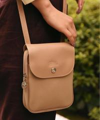 Longchamp/ vintage mini  leather  shoulder bag.