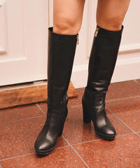 MAX MARA /vintage leather long boots.