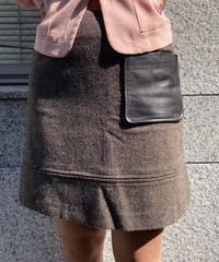 Max&Co./ leather pocket mini skirt. (U)