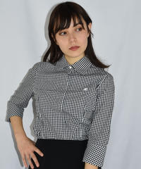 courreges / gingham check pattern blouse.