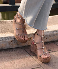 VALENTINO/vintage wedge sole sandal.