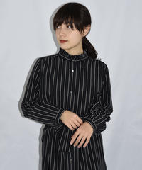 A.P.C / stripe long shirt dress.