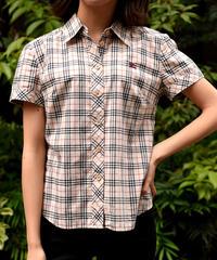 Burberry/vintage nova check short sleeves shirt.