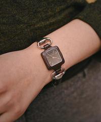 GUCCI /  vintage leather horsebit quartz
