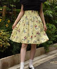 PRADA / vintage flower design skirt.