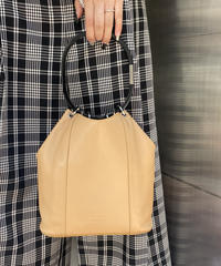 GUCCI / vintage leather design hand  bag.