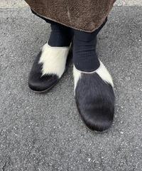 Y'S  YOHJI YAMAMOTO/ vintage real fur slip on.