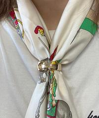Salvatore Ferragamo /gold GANCINI scarf ring.429007H