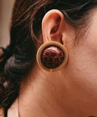 PRADA / vintage embossed design earring.