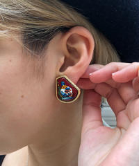 HERMES/vintage ameille earring. 430020H