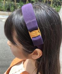 Salvatore Ferragamo/vara ribbon headband (purple). 429002T(U)