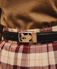 CELINE / vintage carriage motif belt