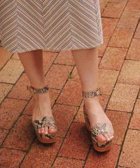 stella mccartney/vintage python platform sandal .504003 C