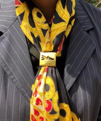 Salvatore Ferragamo/ vintage shoes motif scarf ring.  430025C