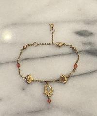 Christian Dior/vintage logo ×shell motif bracelet .