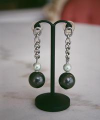 D&G / Silver chain pearl piece