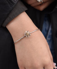Tiffany&Co./daisy silver&18k bracelet.(U)