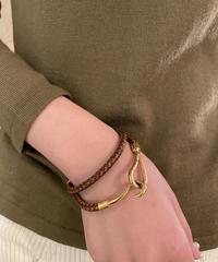 HERMES/ vintage jumbo 2way bracelet.  (U)5