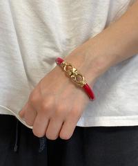 SalvatoreFerragamo/gancini design bracelet(RED) .  429001H