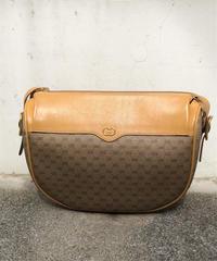GUCCI/vintage monogram× leather shoulder bag.512006H
