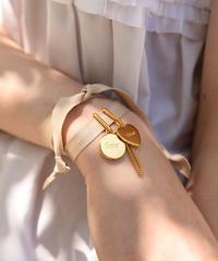 Chloe/ vintage 2way ribbon logo charm choker& bracelet.