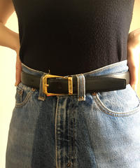 Burberry/ nova check buckle leather belt.420004T