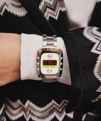 miu miu / vintage fake watch design bangle.