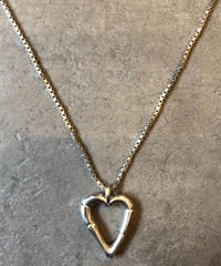 GUCCI/vintage bamboo heart motif necklace.