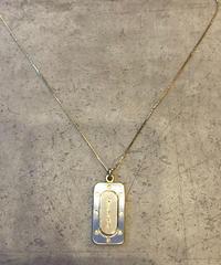 Christian Dior/vintage plate design gold necklace(心斎橋)