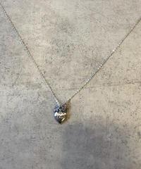 Christian Dior/vintage heart motif silver necklace