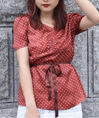 SEE BY CHLOE/ dot pattern blouse
