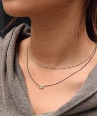 Courreges/ vintage silver logo necklace.(U)