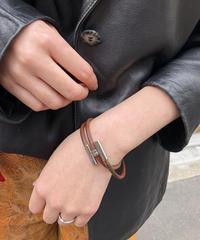 HERMES/ vintage tournis tressé bracelet.  430017T(U)
