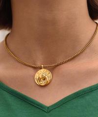 CELINE / vintage cycle stone design necklace.