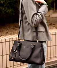 agnes.b/ black key ring 2way design  bag.